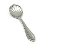 Ice-Cream Spoon. On white background. Focus on the top royalty free stock images
