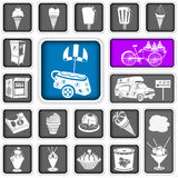 Ice cream squared icons Stock Photos