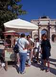 Ice Cream Stall, Paris. royalty free stock images