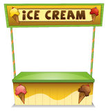 An ice cream stand Stock Images