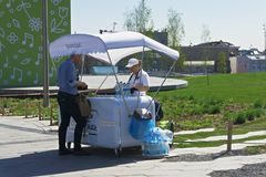 Ice cream stand Royalty Free Stock Images