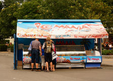 Ice cream stand Royalty Free Stock Photos