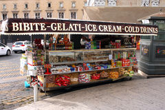 Ice cream stand Rome Italy Stock Photography
