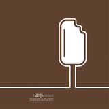 Ice cream on a stick Stock Photo