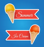 Ice cream sticker vector illustration Stock Image