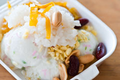 Ice cream with sticky rice Stock Photography