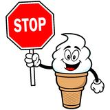 Ice Cream with Stop Sign. A vector illustration of a Ice Cream with Stop Sign Stock Photos