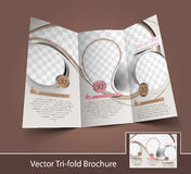 Ice Cream Store Tri-Fold Royalty Free Stock Photography