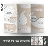 Ice Cream Store Tri-Fold Brochure Royalty Free Stock Images