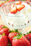 Ice cream with strawberries Stock Photos