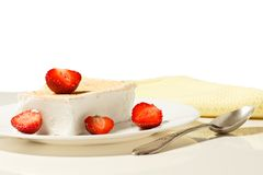 Ice cream and strawberries Royalty Free Stock Images