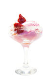 Ice-cream and strawberry in a glass Royalty Free Stock Photography
