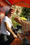 Ice cream street vendor in Turkey Stock Photo