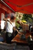 Ice cream street vendor in Turkey Royalty Free Stock Photography