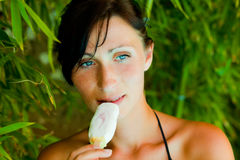 Ice cream summer beauty Royalty Free Stock Images