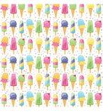 Ice cream summer pattern seamless Royalty Free Stock Image