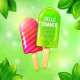Ice cream summer placat Royalty Free Stock Images