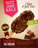 Ice Cream Summer Sale Illustration royalty free illustration