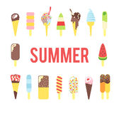 Ice cream in the summer Stock Image