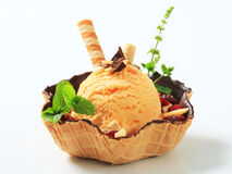 Ice cream sundae Royalty Free Stock Photos