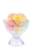 Ice cream sundae stock photo