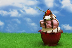 Ice-cream Sundae royalty free stock images