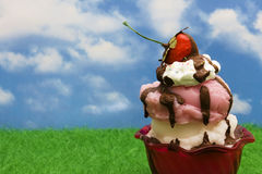 Ice-cream Sundae Stock Images