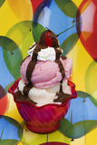 Ice-cream Sundae royalty free stock photo