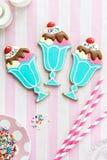 Ice cream sundae cookies Stock Photos