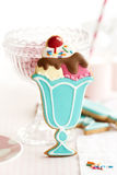 Ice cream sundae cookies Stock Photos