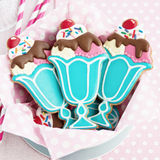 Ice cream sundae cookies Royalty Free Stock Image