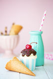 Ice cream sundae cupcake Stock Images