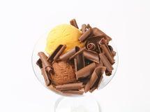 Ice cream sundae Stock Photos