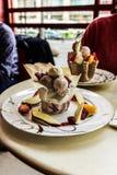 Ice cream sundae Stock Image