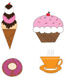 Ice cream. Is sweet and delicious in the summer Stock Images