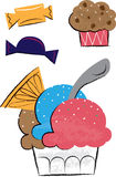 Ice Cream and Sweets Children's Illustrations Stock Photography