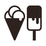Ice cream symbol Stock Photography