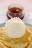 Ice Cream And Syrup royalty free stock images
