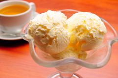 Ice cream and tea Stock Image