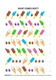 Ice-cream themed educational logic game - sequential pattern recognition Stock Photography