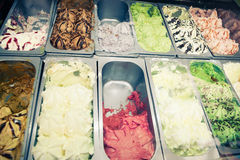 Ice-cream trays Royalty Free Stock Image