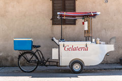 Ice cream tricycle mobile Stock Images