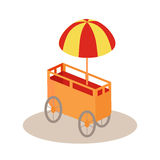 Ice-Cream Trolley Isometric Vector Icon. Stock Photography