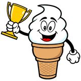 Ice Cream with Trophy. A vector illustration of a Ice Cream with Trophy Stock Images