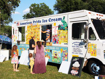 Ice cream truck. Royalty Free Stock Photo