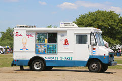 Ice cream truck in Brooklyn Royalty Free Stock Photo