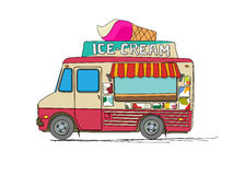 Ice cream truck Stock Photo