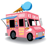 Ice cream truck. Colorful and Playful Ice Cream Truck with Ice Cream cone on top Royalty Free Stock Photography