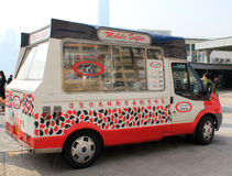 Ice cream truck in hong kong Royalty Free Stock Photography