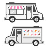 Ice cream truck. Illustration with product graphics Royalty Free Stock Photography